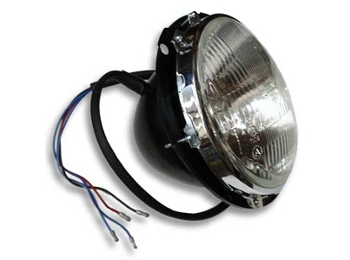 Lucas European Headlamp Headlight W/ Pilot Left Hand Drive