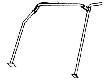 Classic Austin Mini Safety Devices Front Roll Cage