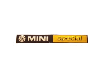 Classic Austin Mini Bootlid Badge 'mini Special' Mk111 And Later