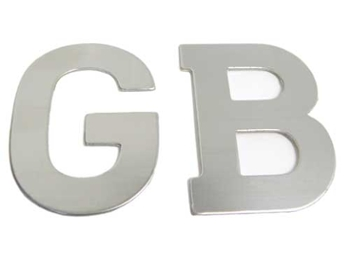 Classic Austin Mini Gb Stainless Steel Badge Self Adhesive