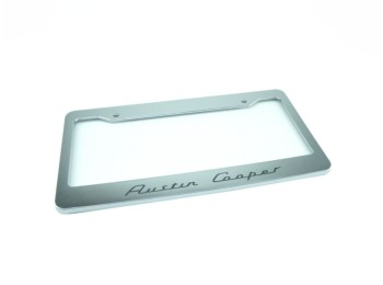Austin Cooper Chrome License Plate Frame