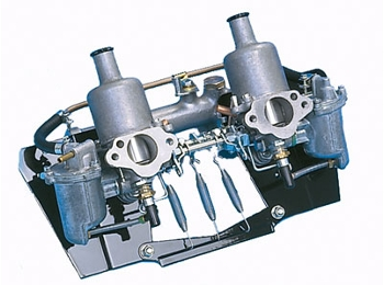 Classic Mini Twin Hs2 1.25carburetors With Manifold Less Air Cleaners