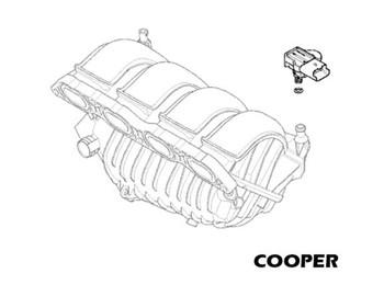 Mini Cooper Intake Pressure Sensor Oem Gen2 R55 R57 Non S 2007 2010