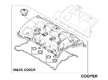 Mini Cooper Emblem For The Valve Cover Oem Gen2 R55 R61