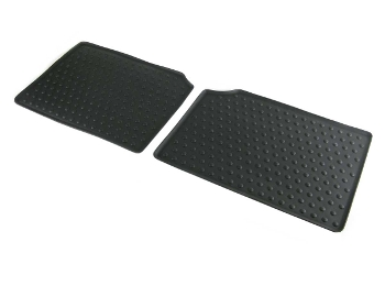 Floor Mats Front Rubber Black W/wings Logo Oem - Mini Countryman Paceman