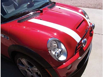 Magna Guard Magnetic White Stripes Pair - R55/56/57 Mini Cooper And S