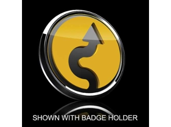 Mini Cooper & S 3d Badge Insert - Vertical Curve Yellow