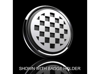 Mini Cooper & S 3d Badge Insert - Checkered Pattern