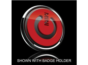 3d Badge Insert - Mini Power Switch Symbol Red