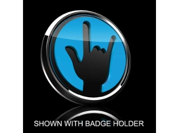 3d Badge Insert - Rockon Blue