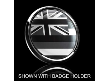 Dome Style 3 Inch Magnetic Badge - Hawaii Black Jack Flag