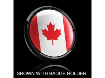 Dome Style 3 Inch Magnetic Badge - Canadian Flag