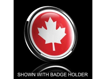 Dome Style 3 Inch Magnetic Badge - Canadian Maple Leaf