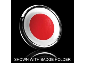 Dome Style 3 Inch Magnetic Badge - Japanese Flag