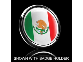 Dome Style 3 Inch Magnetic Badge - Mexican Flag
