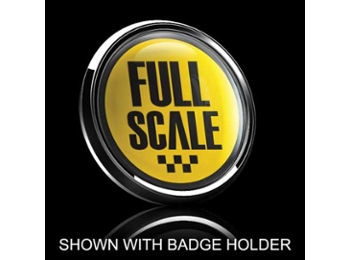Dome Style 3 Inch Magnetic Badge - Full Scale Over Yellow