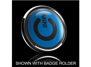 Dome Style 3 Inch Magnetic Badge - Mini Power Switch Blue