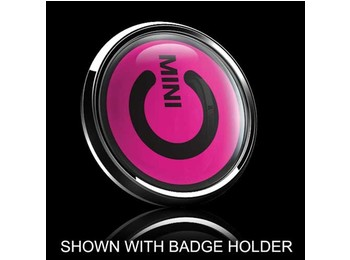 Dome Style 3 Inch Magnetic Badge - Mini Power Switch Pink