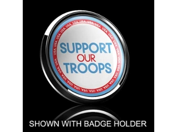 Dome Style 3 Inch Magnetic Badge - Support Our Troops
