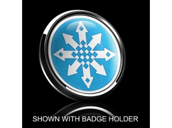 Dome Style 3 Inch Magnetic Badge - Mini Snow Flake