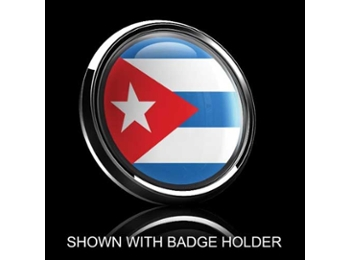 Dome Style 3 Inch Magnetic Badge - Cuban Flag