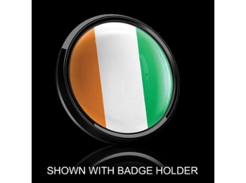 Dome Style 3 Inch Magnetic Badge - Ireland Flag