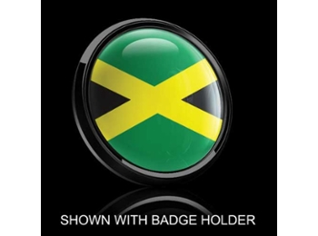 Dome Style 3 Inch Magnetic Badge - Jamaican Flag