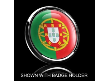 Dome Style 3 Inch Magnetic Badge - Portugal Flag