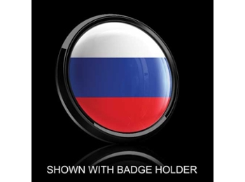 Dome Style 3 Inch Magnetic Badge - Russian Flag