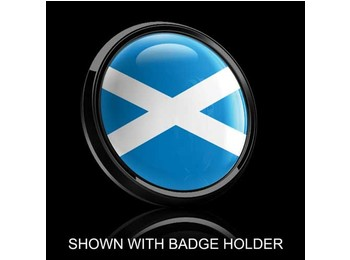Dome Style 3 Inch Magnetic Badge - Scotland Flag