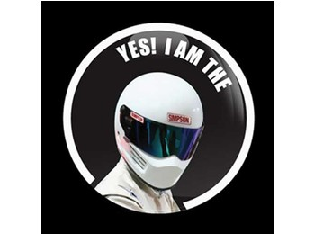 Dome Style 3 Inch Magnetic Badge - Fast Stig