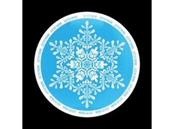 Dome Style 3 Inch Magnetic Badge - Let It Snow