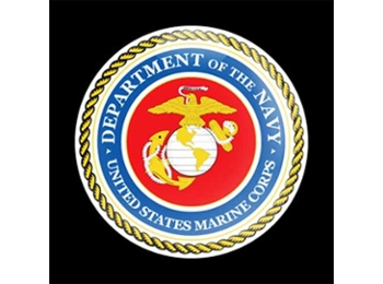Dome Style 3 Inch Magnetic Badge - Military Us Marines