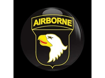 Dome Style 3 Inch Magnetic Badge - Us Army 101st Airborne