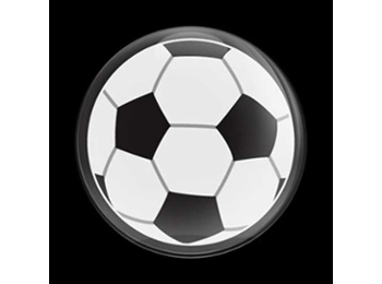 Dome Style 3 Inch Magnetic Badge - Sports Soccer Ball
