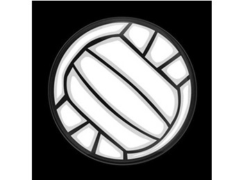 Dome Style 3 Inch Magnetic Badge - Sports Volleyball