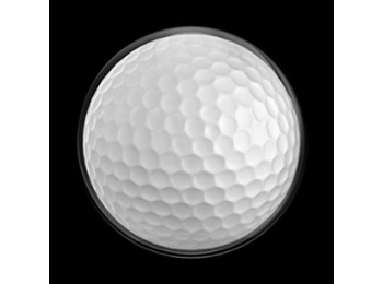 Dome Style 3 Inch Magnetic Badge - Sports Golf