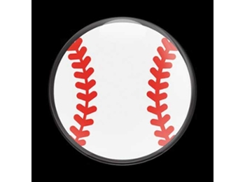 Dome Style 3 Inch Magnetic Badge - Baseball 01