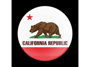 Dome Style 3 Inch Magnetic Badge - Flag California
