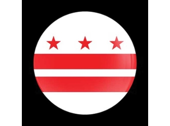 Dome Style 3 Inch Magnetic Badge - Flag Washington Dc