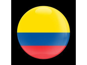 Dome Style 3 Inch Magnetic Badge - Flag Colombia
