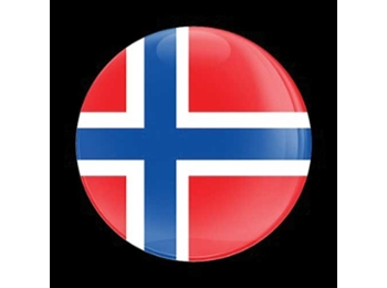 Dome Style 3 Inch Magnetic Badge - Flag Norway