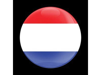 Dome Style 3 Inch Magnetic Badge - Flag Netherlands