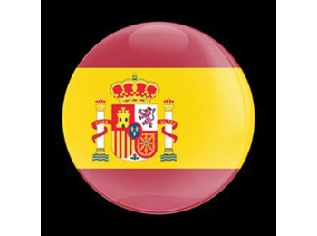 Dome Style 3 Inch Magnetic Badge - Flag Spain