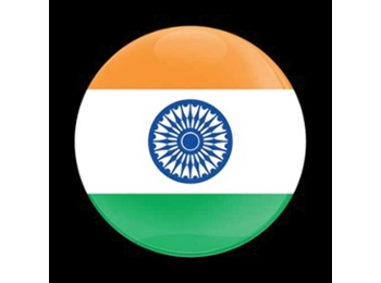 Dome Style 3 Inch Magnetic Badge - Flag India