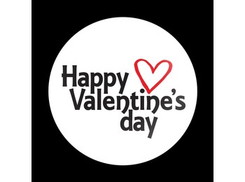 Dome Style 3 Inch Magnetic Badge - Happy Valentines