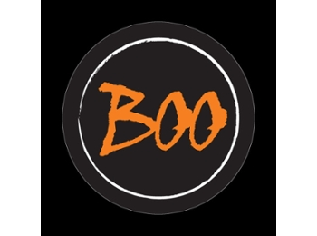 Dome Style 3 Inch Magnetic Badge - Halloween Boo
