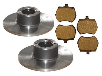 Classic Austin Mini 8.4 Brake Rotors And Pads Kit