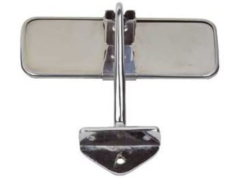 Classic Mini Interior Mirror Stainless Steel 6 Inches Long