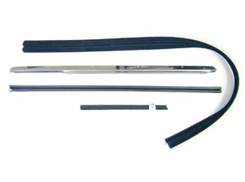 Sliding Window Weatherstrip & Chrome Kit Right Hand Side